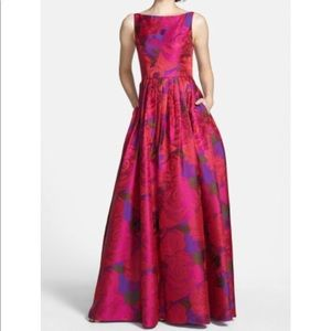 🆕 Adrianna Papell pink purple floral gown dress
